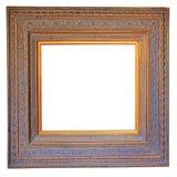 Wood fotoram för tappning Arkivfoton