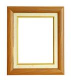 Wood fotoram för vertikal teakträ som isoleras på vit bakgrund Royaltyfri Fotografi
