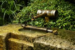 Wood fountain Royalty Free Stock Photography