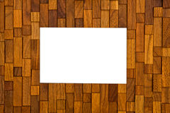 Wood frame. Wood picture frame with isolated white center royalty free stock image