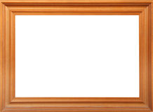 Wood frame. The wood frame isolated background royalty free stock photography