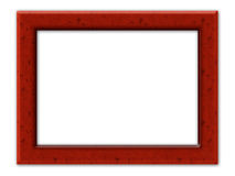 Wood frame 2. Illustration wood frame with empty place inside (clipping path Royalty Free Stock Photo