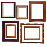 Wood frame. A lot of type isolate wood frame Stock Photos