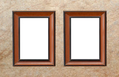 Wood frame Stock Image