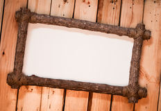 Wood frame. Made from branch Royalty Free Stock Images