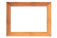 Wood frame. Isolated on the white Royalty Free Stock Images