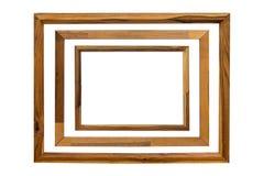 Free Wood Frame 3 Size Isolate On White Background Royalty Free Stock Photos - 108721408