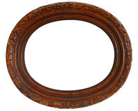Wood frame. Old antique wooden frame over white with clipping path Stock Photography