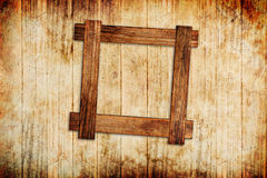 Wood frame background Stock Image