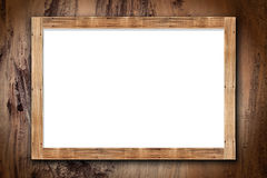 Wood frame on bark Stock Photos