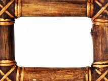 Wood frame border Royalty Free Stock Image