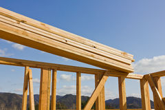 Wood Frame for Building Stock Photo