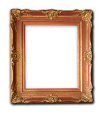 Wood frame carved Renaissance designs Royalty Free Stock Photo