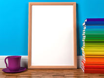 Wood frame in the children's room Royalty Free Stock Images