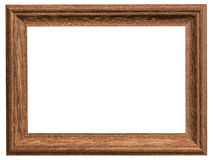 Wood frame with clipping path on isolated Stock Photo