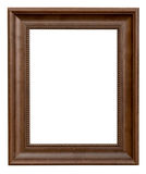 Wood frame with clipping path on isolated Royalty Free Stock Image