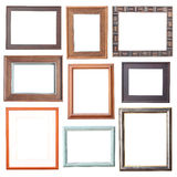 Wood frame Collection Stock Photography