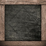 Wood frame with dark paper Royalty Free Stock Images
