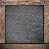 Wood frame with dark paper Stock Photo