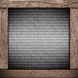Wood frame with dark paper Stock Photos