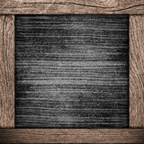 Wood frame with dark paper Royalty Free Stock Photography
