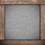 Wood frame with dark paper Royalty Free Stock Photo