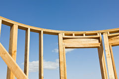 Wood Frame for Door Stock Images