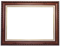 Wood frame with floral.jpg Royalty Free Stock Images
