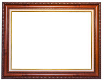 Wood frame with floral Royalty Free Stock Photos