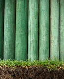 Wood frame in the grass Stock Photography