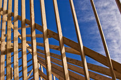 Wood Frame Home Construction royalty free stock images