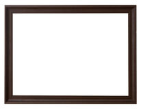 Wood frame horizontal for picture on isolated white. With space Royalty Free Stock Photography