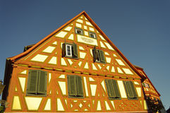Wood-frame house in Ladenburg, by Heidelberg Royalty Free Stock Images