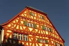 Wood-frame house in Ladenburg, by Heidelberg. Germany royalty free stock images