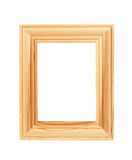 Wood frame isolated Royalty Free Stock Photos