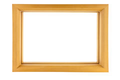 Wood frame isolated on white Stock Photography