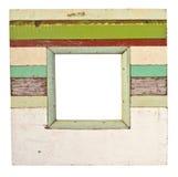 Wood frame isolated on white Stock Images