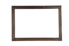 Wood frame isolated on white. Royalty Free Stock Photo
