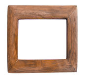 Wood frame isolated on white Stock Image