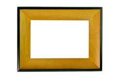 Wood frame isolated Stock Image