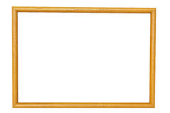Wood frame. Isolated on white background Stock Photos