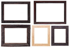 Wood frame isolated on white Royalty Free Stock Photography