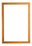 Wood frame isolated on white Stock Photo