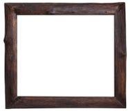 Wood frame isolated on white . Stock Photo
