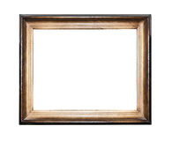 Wood frame isolated. Wood frame isolated on a white background stock photo