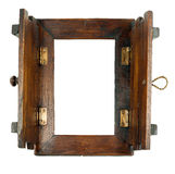 Wood frame isolated on white Royalty Free Stock Image