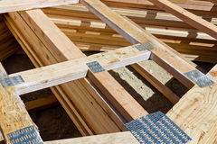 Wood Frame Nail Plate stock photo