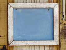 Wood frame for note Stock Images