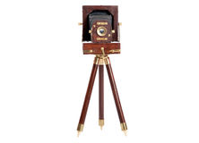 Wood frame Old Camera Royalty Free Stock Images