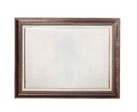 Wood frame with old paper Royalty Free Stock Photos
